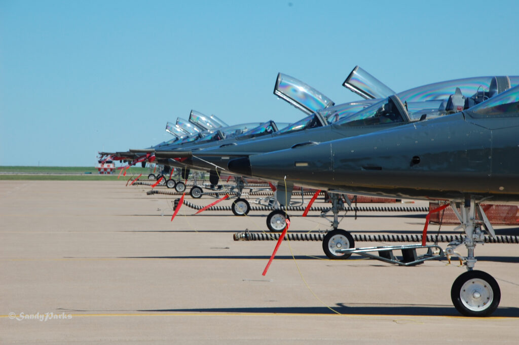I particularly like the line-up of the planes as they sit on the tarmac. Cool.