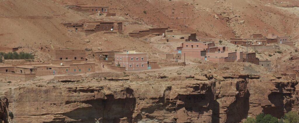 A modern village in Moroccan desert