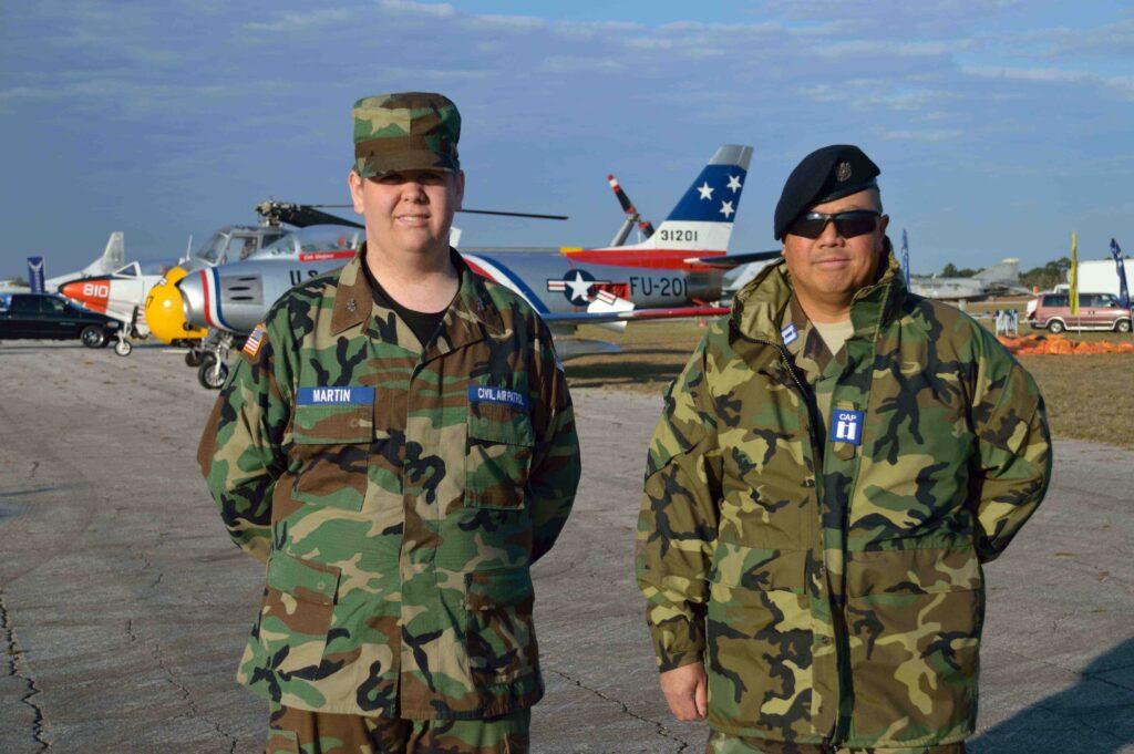 Joshua Martin and Capt. Tac Kong of Deland Flight.