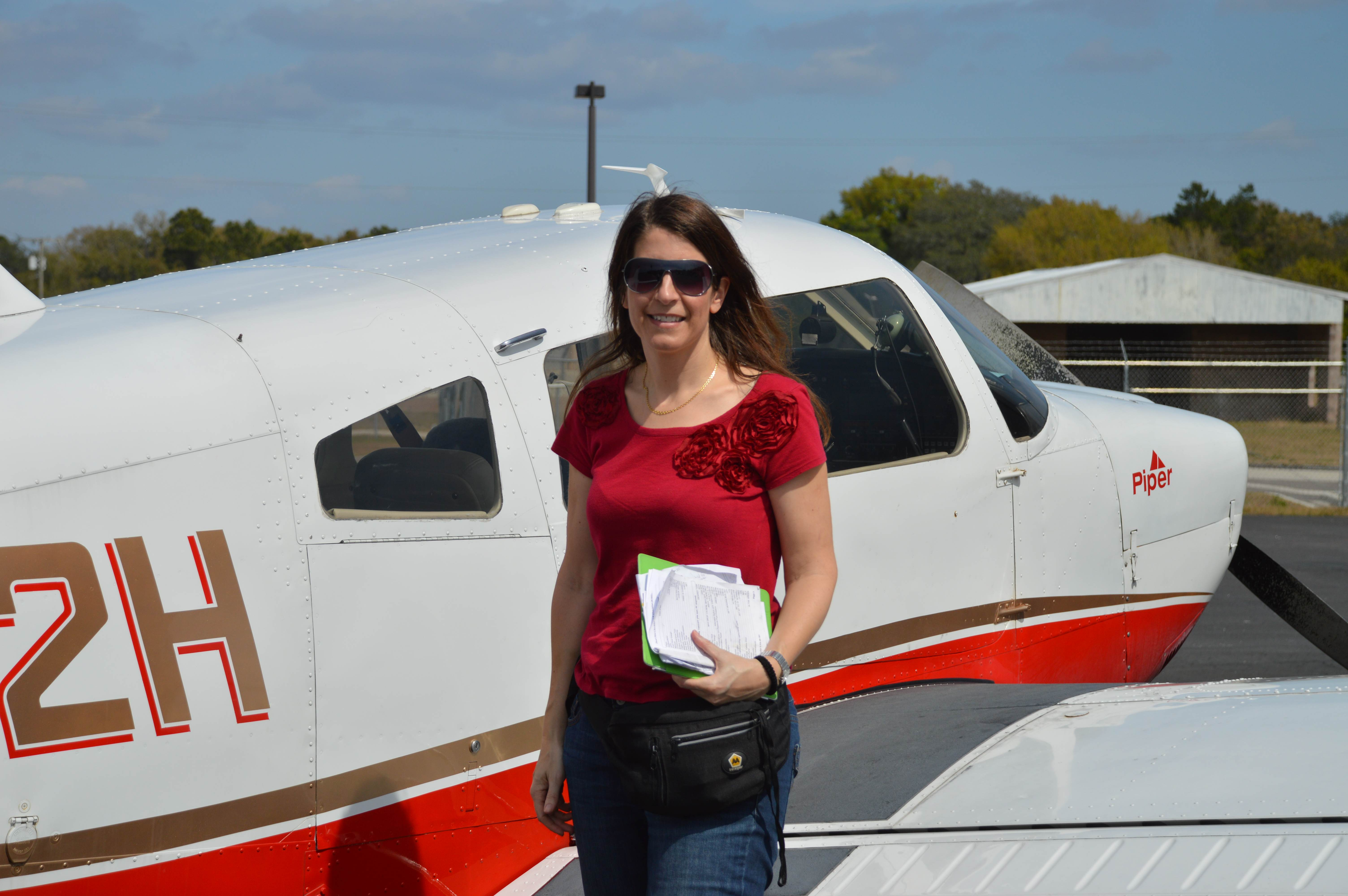 Elisabeth Wuethrichan, engineer from Switzerland, came to pilot for the event with her hubby who is also a pilot.