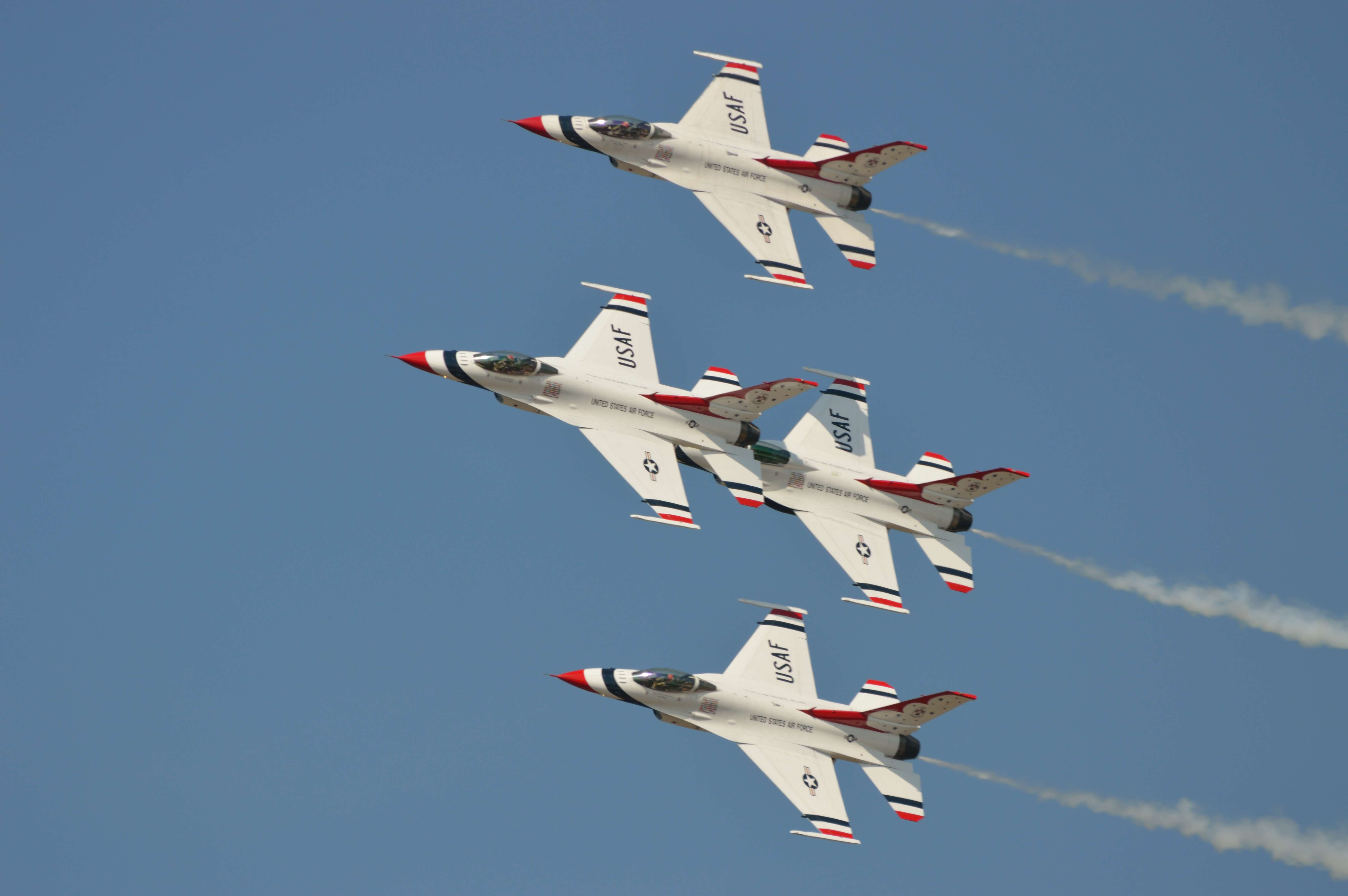 USAF Thunderbirds F-16s performed after duties were complete for most CAP.