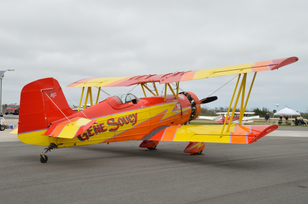 """Gene Soucy and his 1972 Grumman G-164A """"Show cat."""""""