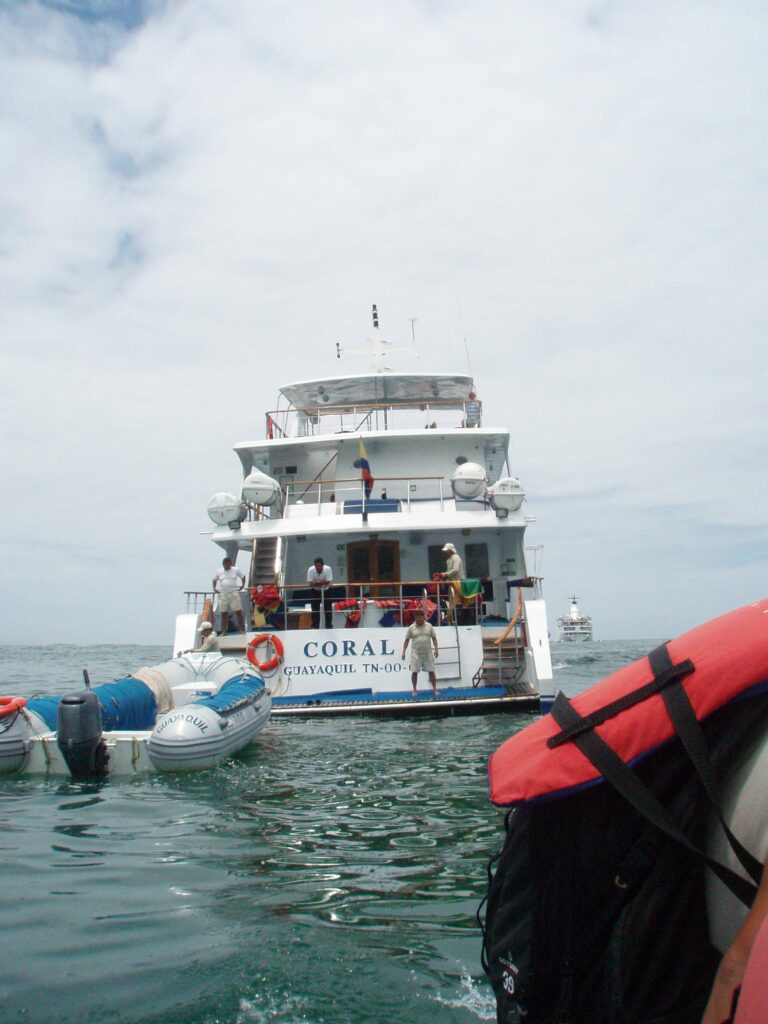 Coral I. Our floating home while in the Galapagos.