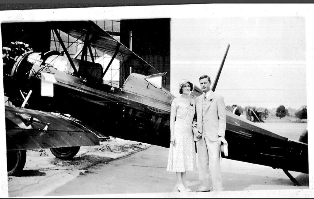 Photo enhanced picture after Dick Peiffer suggested he could read something on the aircraft.
