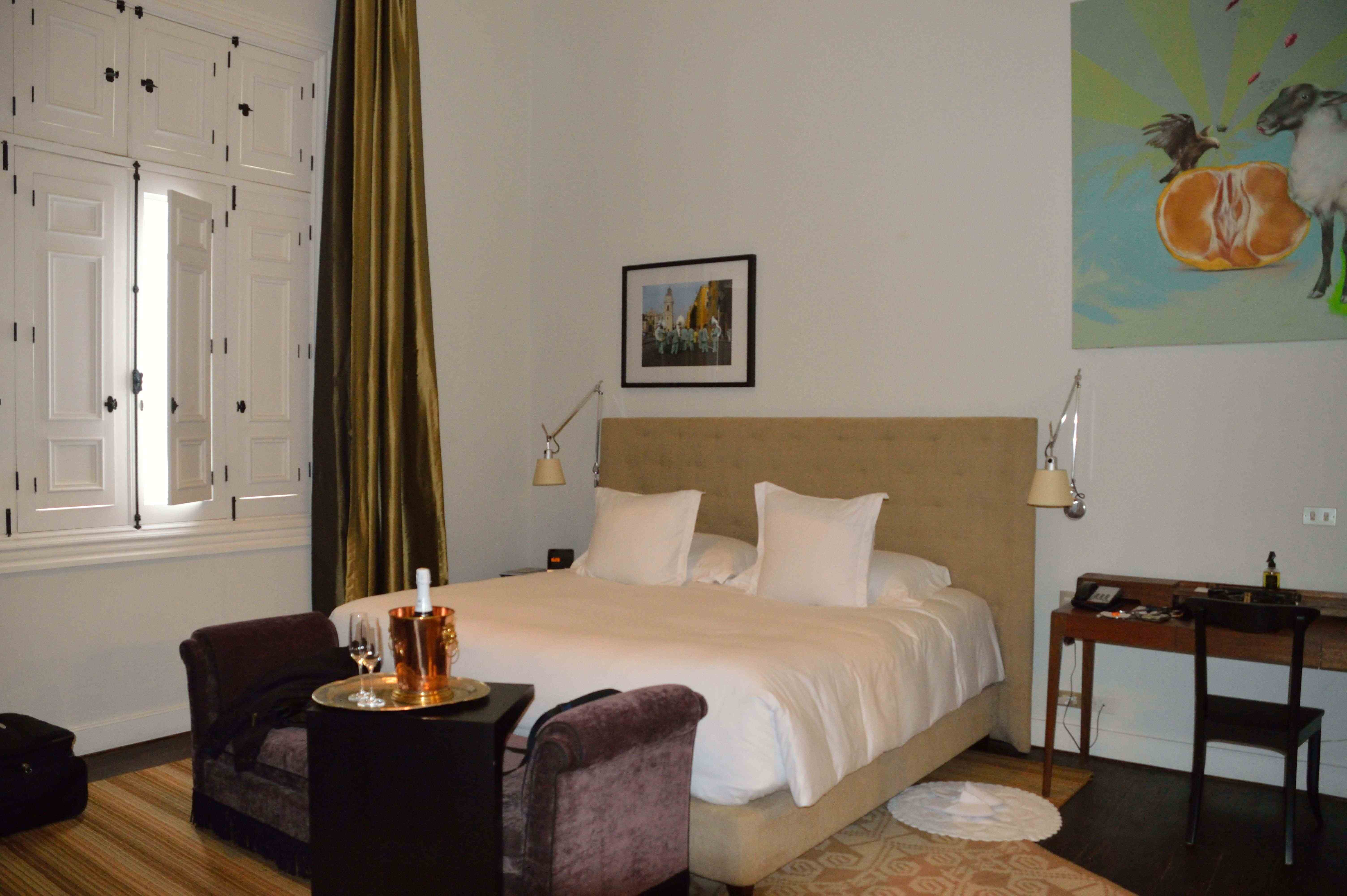 Bohemian little boutique hotel in Barranco (Lima), Peru. Loved all the little touches and wonderful art in the restored old summer home.