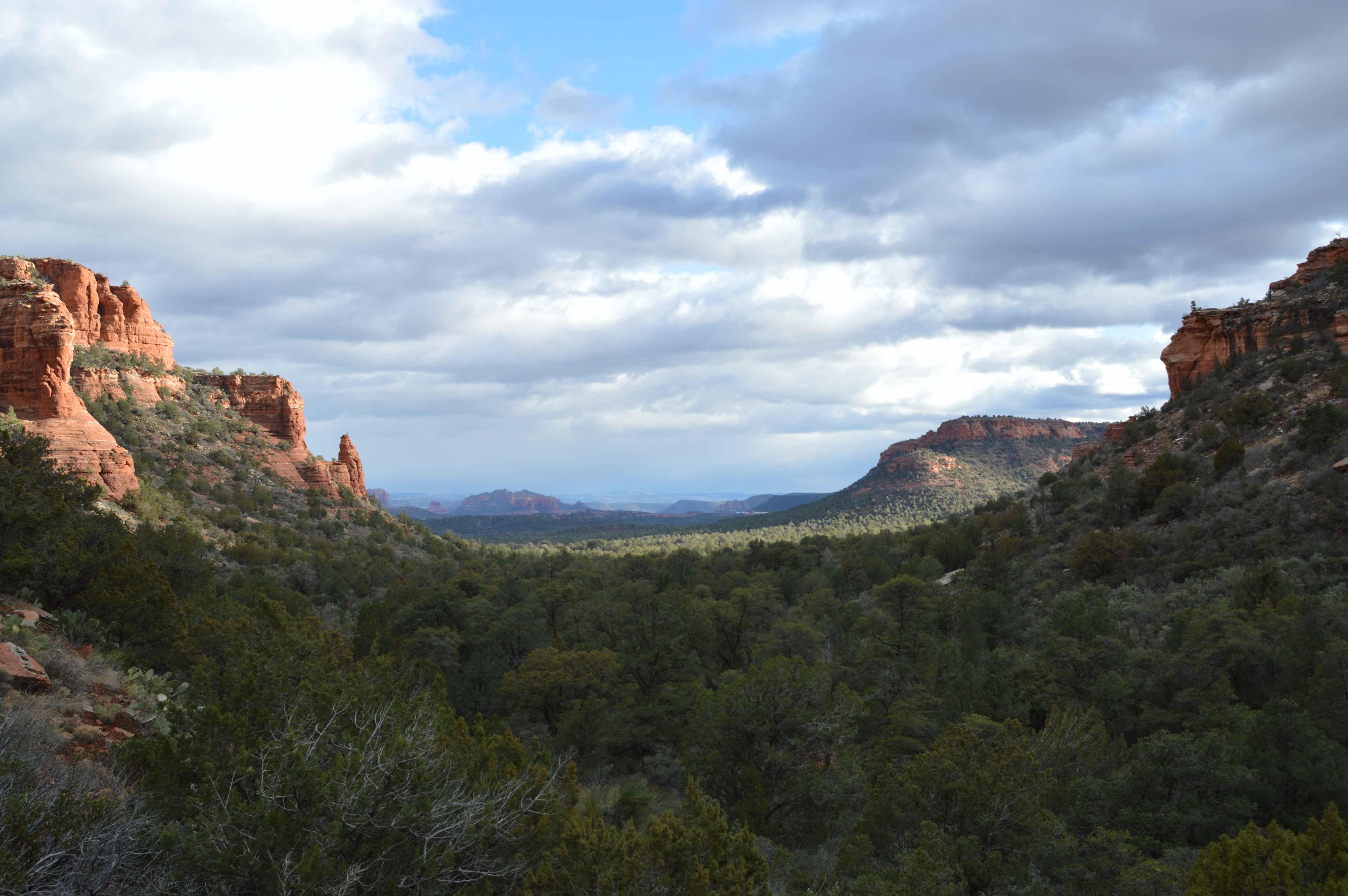 A canyon view looking toward Sedona