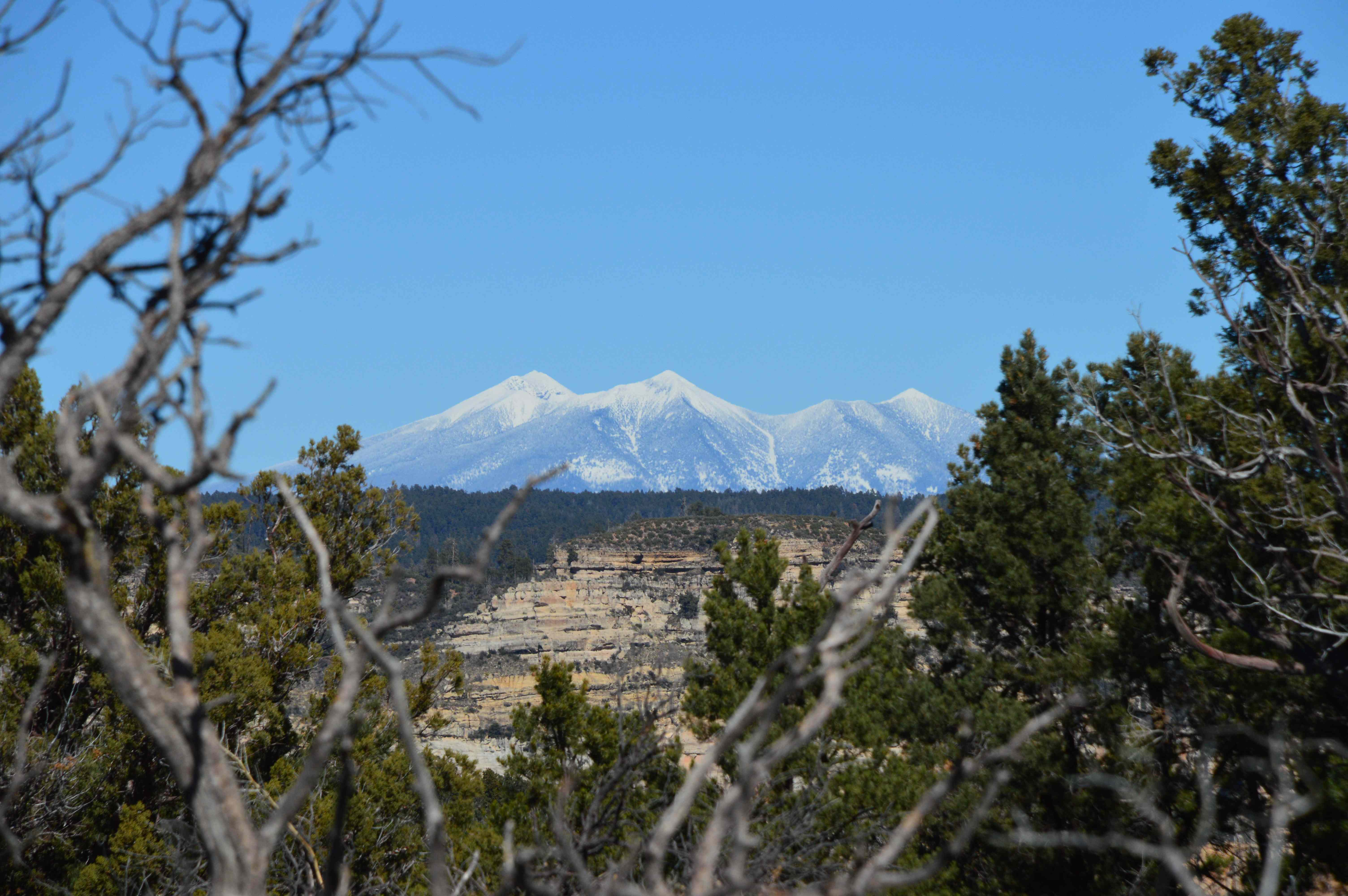 View from atop Bear Mountain of the Spanish Peaks.